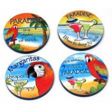 Paradise Wood Coaster 4pc Set